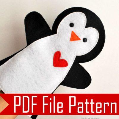 Felt Penguin Handpuppet