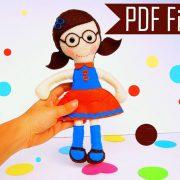 2 Doll Pattern, Felt Rag Doll Sewing Pattern, Two Doll Pattern Pack A1089