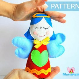 Angel Pattern, Felt Angel, Christmas Angel Pattern, Pdf Pattern, Doll Pattern Instant Download A808