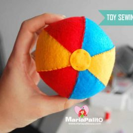 Balloon Ball Toy Pattern, Felt Ball Pattern, Colorful Baby Ball Pattern,  Instant Download A1096