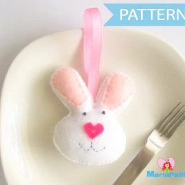 Bunny Pattern, Bunny head Rabbit pattern A323 PDF Sewing pattern