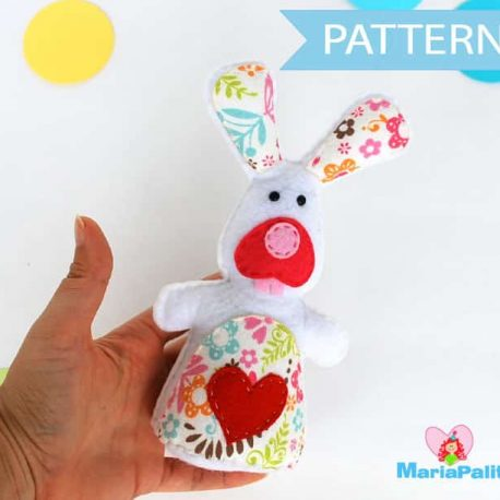 Bunny Toy Sewing Pattern A801