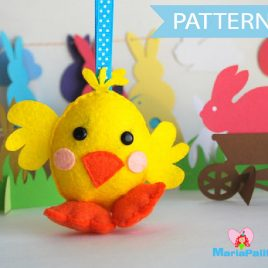 Chick Pattern, Chicken Sewing Pattern,  Pdf Sewing Pattern,  Farm Animal Plush, Easy Sewing Project ,Easter Hen Pattern,  Felt  Pattern A573