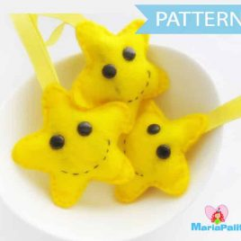 Christmas Pattern -  Happy Star Pattern, Sewing Pattern, Christmas Ornaments  Pdf Sewing Pattern A654