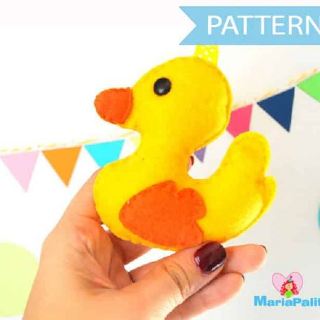 Duck Pattern, Baby Duck Pattern,  Rubber Ducky Pattern, Children's Toy Sewing Pattern, Baby Toy Pattern Instant Download A728