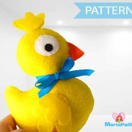 Duck Pattern, Felt Duck Pattern, Baby Duck Baby Toy Sewing Pattern, Pdf Sewing Pattern, Plush Duck  , Stuffed Animal Pattern A805