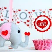 Elephant Sewing Pattern, Felt Elephant Pattern, Party Favor Pattern, Baby shower felt toy A490 PDF Sewing pattern