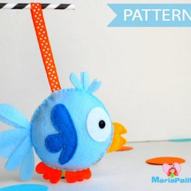 Felt Bird Pattern, Bird Sewing Pattern, Pdf Sewing Pattern A504