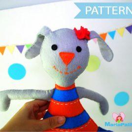 Felt Bunny Pattern, Bunny Doll Pattern, Clementine Bunny Sewing Pattern, PDF sewing Pattern  A1097