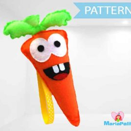 Felt Carrot Pattern , Vegetable Felt Carrot sewing Pattern, PDF A966