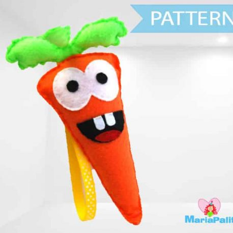 Felt Carrot Pattern , Vegetable Felt Carrot sewing Pattern, PDF A966