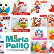 Felt Christmas Ornament Pattern, Pdf Sewing Pattern, Snowman, Santa Claus , Happy Star, Christmas Penguin- Set A Instant Download A868