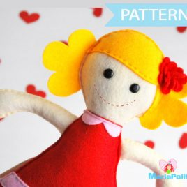 Felt Doll Pattern - Molly Rack doll Sewing pattern A493 PDF