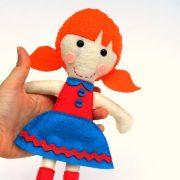 Felt Doll Pattern, Tiffany Rag Doll Pattern, Felt Sewing Pattern A799