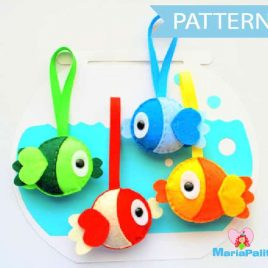 Felt Fish Pattern, Fish Tank Play , Fish Toys, Fish Ornaments, Sewing Pattern, Pdf Felt Pattern, Fish Plush Toys,Instant Download A873