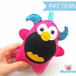 Felt Monster Pattern, Felt Monster Sewing Pattern, Halloween Monster Pattern A334 PDF Sewing pattern