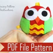 Felt Owl pattern, Felt owl Sewing pattern. PDF Sewing pattern , pdf baby sewing pattern A669