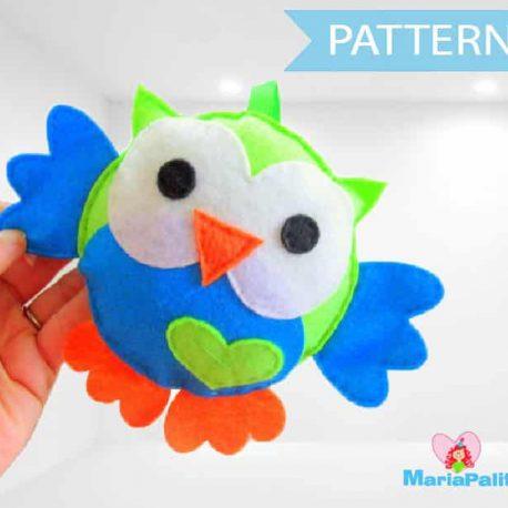Felt Owl pattern Pattern , Owl Sewing Pattern A325 PDF Sewing pattern