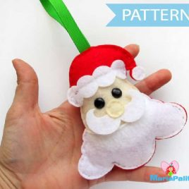 Felt Santa Pattern, Felt Sewing Pattern, felt Christmas Ornament, PDF Sewing pattern A492