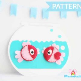 Fish Sewing Pattern - Fish Felt Magnets and fish bowl Sewing pattern  A296 PDF Sewing pattern
