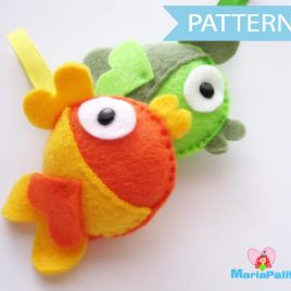 Fish Sewing Pattern ,PDF instant download A199