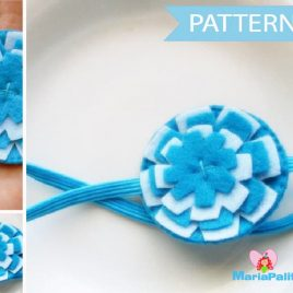 Flower Headband Pattern, Felt Headband Pattern, Headband Tutorial , Pdf Pattern, Sewing Pattern A806