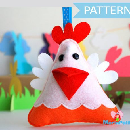 Hen Pattern, Hen Sewing Pattern,  Pdf Sewing Pattern,  Farm Animal Plush, Easy Sewing Project ,Easter Hen Pattern,  Felt Hen Pattern, A571