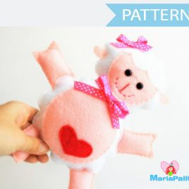 Lamb Pattern , Lamb Sewing Pattern, Stuffed Lamb Pattern , Pdf Lamb Pattern, Stuffed Lamb, Felt Lamb Pattern A775