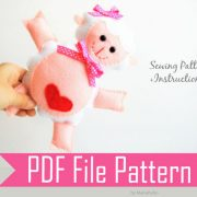 Lamb Pattern , Lamb Sewing Pattern, Stuffed Lamb Pattern , Pdf Lamb Pattern, Stuffed Lamb, Felt Lamb Pattern A775