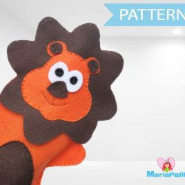 Lion Hand Puppet Pattern, Children Lion Hand Puppet Sewing Pattern - Pdf Pattern, Instant Download A809