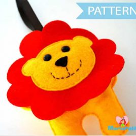 Lion Sewing Pattern, Baby Toy Sewing Pattern, Pdf Sewing Pattern, Baby Lion Pattern  A505