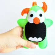 Monster Pattern, Cute Felt Plush sewing pattern, Instant Download A777
