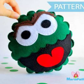 Oscar The Grouch Pattern, Sewing Pattern Pillow, Pdf Sewing Pattern A539