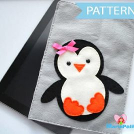 Penguin iPod Sleeve Case, felt iPad Sleeve Sewing Pattern A346