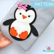 Penguin iPod Sleeve Case, felt iPad Sleeve Sewing Pattern A346