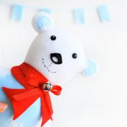 Polar Bear Pattern, Polar Bear Toy Sewing Pattern, PDF Sewing pattern A424