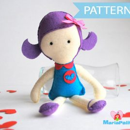 Rag Doll Pattern, Doll Sewing Pattern,  Doll Sewing Pattern - Violet Rack doll pdf Sewing pattern A491