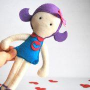 Rag Doll Pattern, Doll Sewing Pattern,  Doll Sewing Pattern - Violet Rack doll pdf Sewing pattern A491