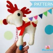 Reindeer Pattern, Felt Reindeer, Ornament,Sewing Pattern - Pdf Pattern , Christmas Ornament Pattern, Instant Download A1095