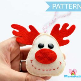 Reindeer Pattern, Holiday Reindeer Christmas Ornament Sewing Pattern - Pdf Instant Download A657