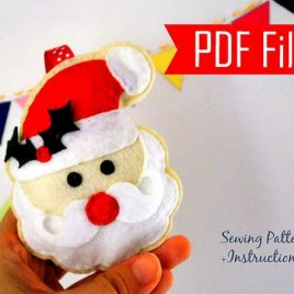 Santa Pattern,Santa Claus Ornament , Christmas Ornament, Sewing Pattern , Pdf Pattern , Christmas Ornament, Instant Download A871