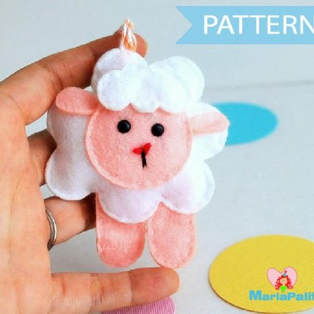 Sheep Pattern, Felt Sheep Sewing Pattern Instant Download A776