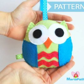 Softie Pattern, Baby Owl PDF Sewing pattern , Kids craft Project Instant Download A670