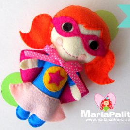 Superhero Pattern, Felt Super Girl Doll pattern A1172