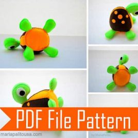 Turtle Pattern, Turtle Sewing Pattern, Instant Download  Pdf Sewing Pattern, Felt Turtle Pattern, Tortoise Pattern, Felt Animal,  A507